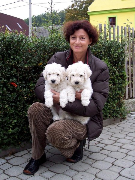 paní Irena Hrachovcová s Démonem a Dariou