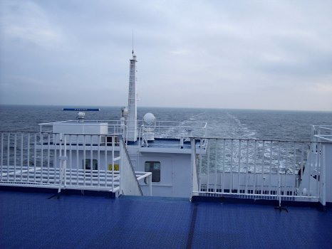 na širém moři trajektem Sassnitz - Trelleborg